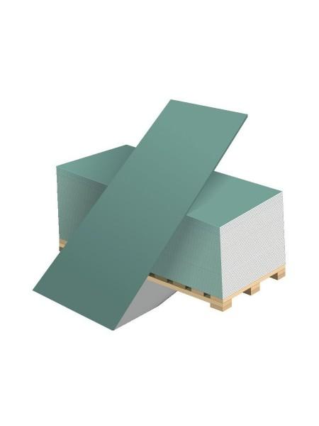 Гипсокартон влагостойкий ГКЛВ 12.5мм Аксолит 2500 х 1200 мм