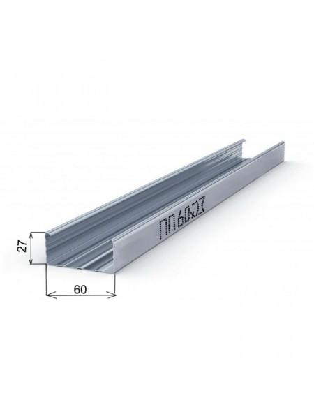Профиль Потолочный ПП 60х27мм 0.55мм 3м
