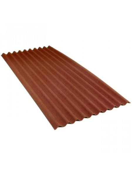 Ондулин кровельный лист Смарт, коричневый 1,85м2