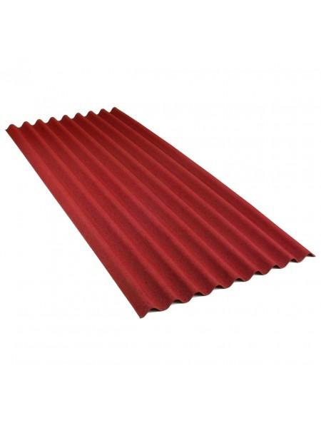 Ондулин кровельный лист Смарт, красный 1,85м2