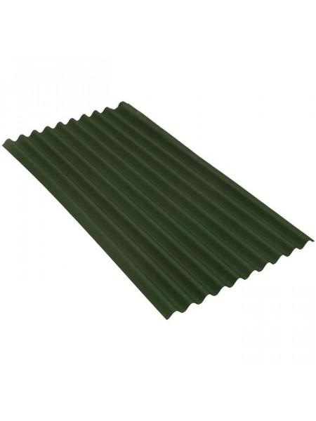 Ондулин кровельный лист Смарт, зелёный 1,85м2