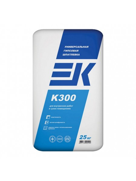 Универсальная шпаклевка ЕК К300 25кг для заделки швов ГКЛ и ГВЛ